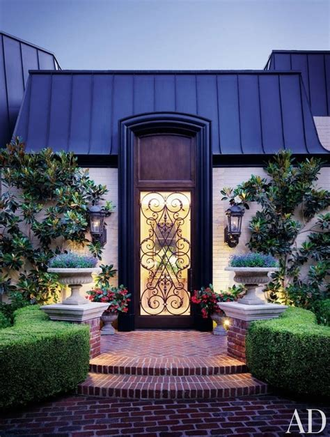 Front Door Decor That Stands Out Photos Architectural Digest Architectural Front Doors