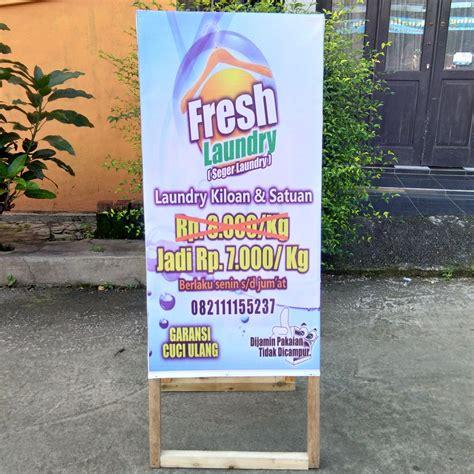 jual stand banner kayu papan promosi lipat  lapak toko
