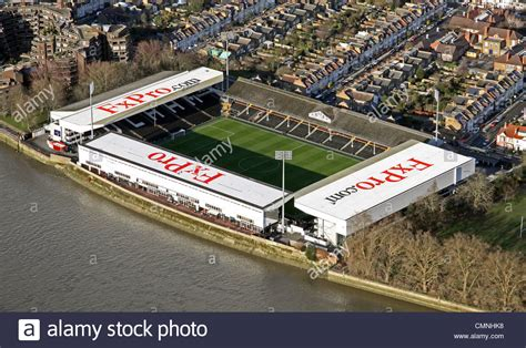 fulham craven cottage aerial view of craven cottage football ground home of