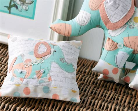 art gallery fabric elephant  pillow  sewing
