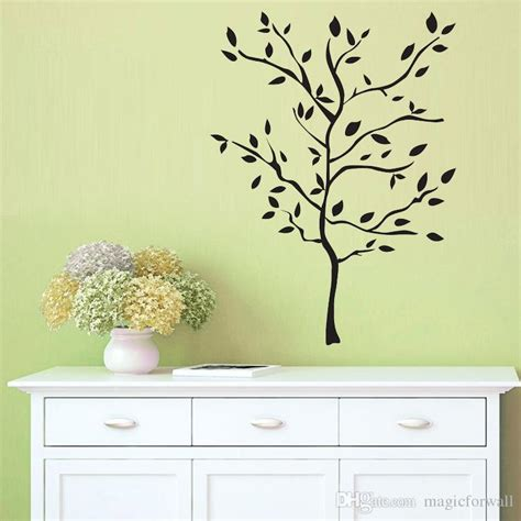 large wall stickers for living room black large tree scenery wall decal sticker living room bedroom sige
