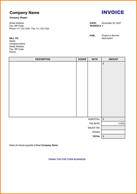 free blank invoice template pdf blank invoice template pdf hardhost info