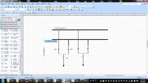 visio lines visio 2007 creating diagram substation part 1 microsoft