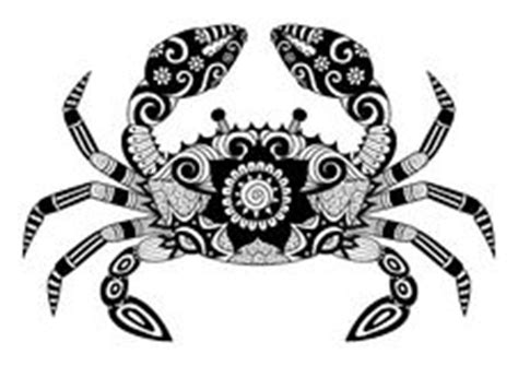 Buku Doodle Land zentangle stylized crab stock vector illustration of