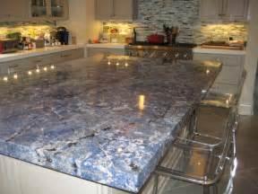 Kitchen blue bahia granite island traditional kitchen new
