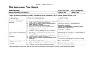 exle of a risk management plan template risk management plan exle template newsletter template