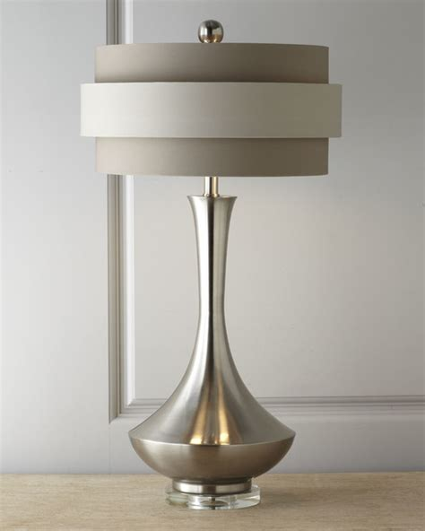 Horchow Chandeliers Neutral Orbit Shade Table Lamp By John Richard Collection