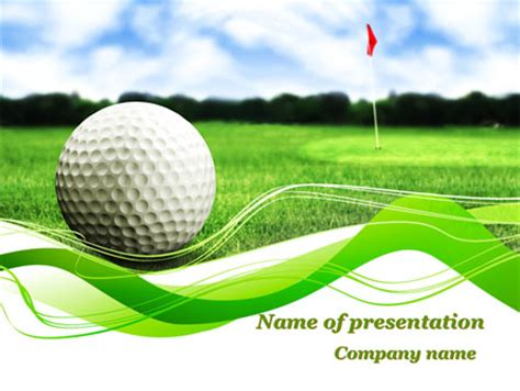 Ball For Golf Powerpoint Template Backgrounds 09807 Poweredtemplate Com Golf Powerpoint Template