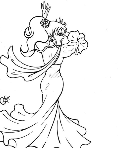 flamenco dancer coloring pages sketch coloring page