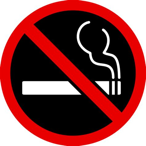 no smoking sign black background no smoking clip art at clker com vector clip art online