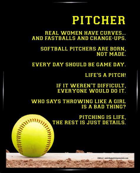 printable softball quotes softball pitcher 8x10 sport poster print softball