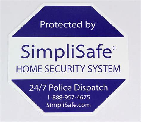 simplisafe security yard sign post decal ebay