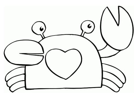 easy crab coloring page coloring pages cute and easy coloring pages free and