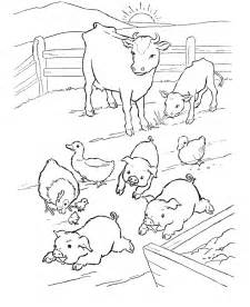 Print These Farm Animal Coloring Pages For Free  sketch template