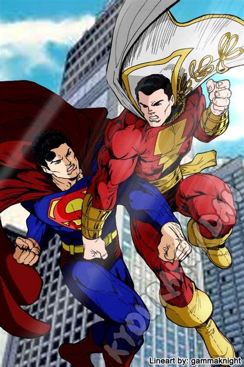 superman vs captain marvel shazam superman vs captain marvel by haddek on deviantart