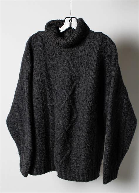 fisherman knit sweater womens fisherman wool gray sleeve knit s turtle neck