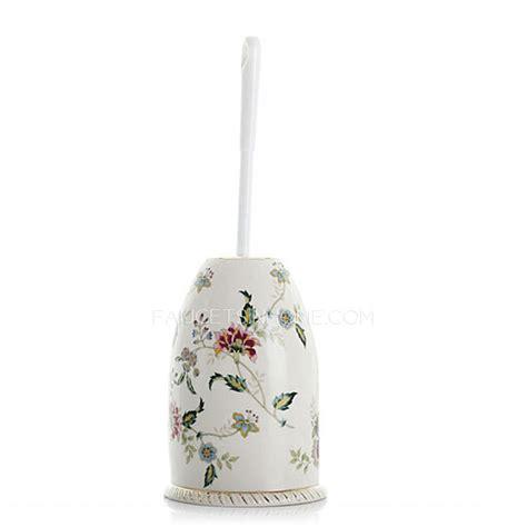 Freestanding Bath With Shower Over floral white ceramic toilet brush holder freestanding