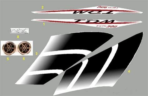 Yamaha Tdm 900 Aufkleber by Tdm 900 06 2008 Silver 3 00 Motor Stickers