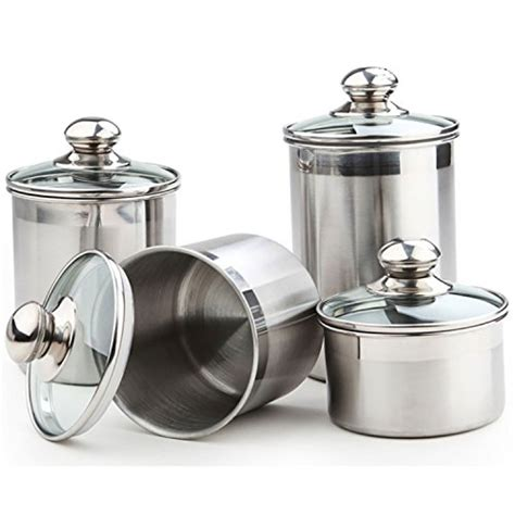 glass canister set for kitchen stainless steel canister sets starches and greens