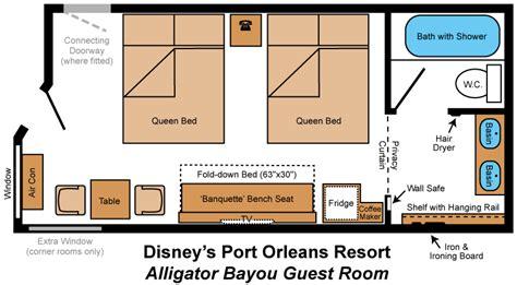 room layout port orleans riverside alligator bayou lodges