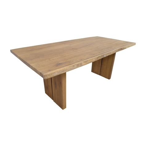54 Off Modern Wood Plank Dining Table Tables Buy Modern Dining Table