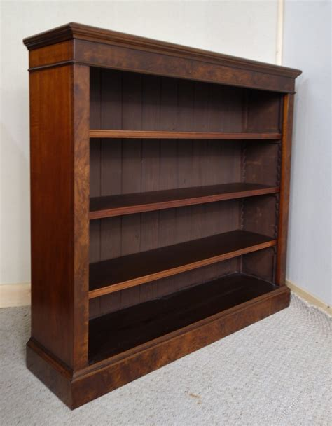 antiques atlas open walnut bookcase