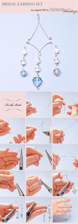Handmade Wedding Magazine - diy project bridal earring set adirondack weddings magazine