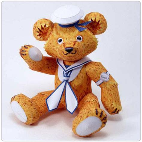Teddy Papercraft - teddy paper model for gift pepakura corner