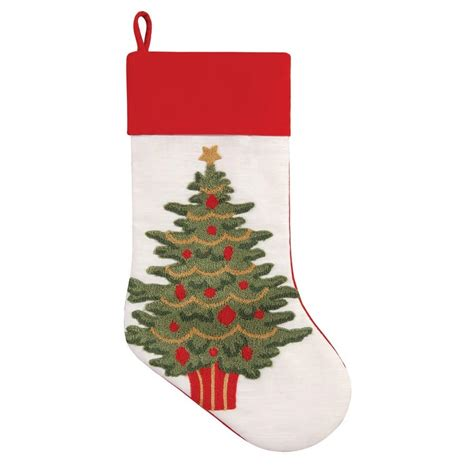 twenty five days of christmas minu stocking on a rope from crackabsral tree tufted 8 5 quot x 20 quot c f