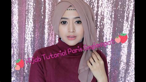 tutorial hijab segiempat semi formal 64 hijab tutorial paris segiempat semi formal natasha