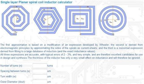 spiral inductor design on pcb pcb inductor design 28 images electronic device and electronic circuit inductor design