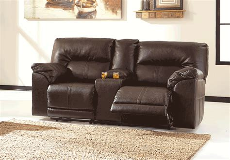 Reclining Seat With Console by Barrettsville Durablend 174 Reclining Seat Console