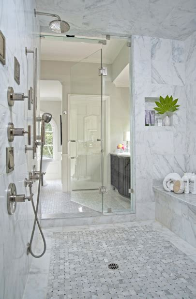 Master Bathroom With Walk In Shower Master Bath Shower Design Transitional Bathroom Davis Interior Design