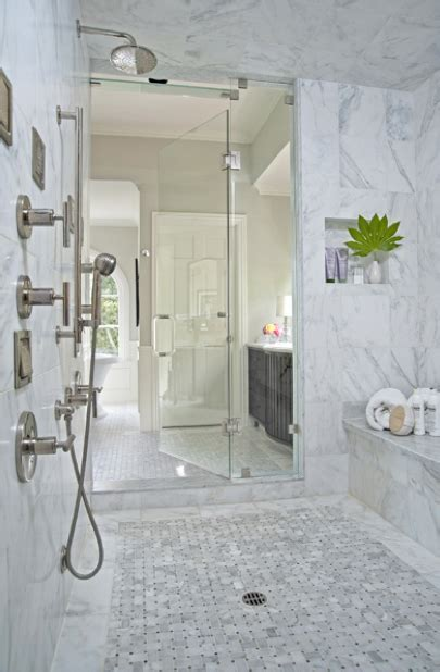 Master Bath Shower Design   Transitional   bathroom