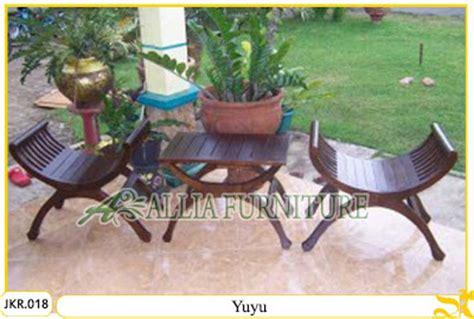 Kursi Teras Kepiting Kayu Jati set kursi teras rumah ukiran yuyu allia furniture