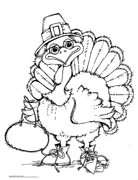 free printable thanksgiving coloring pages for adults pop art minis an oldie but a goodie free turkey time