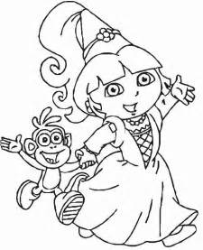 dora explorers printable coloring pages coloring