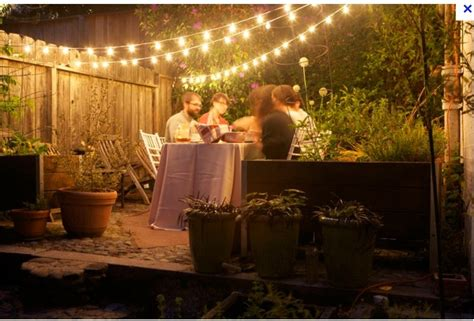 backyard fairy lights garden fairy lights gardening pinterest