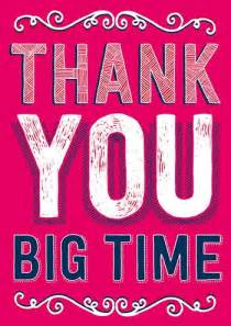 thank you big time funny greeting card