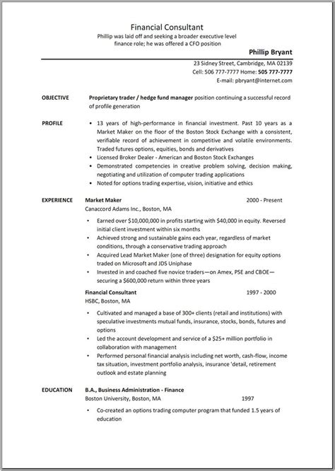 Business Consultant Description Resume 31 best images about sle resume center on