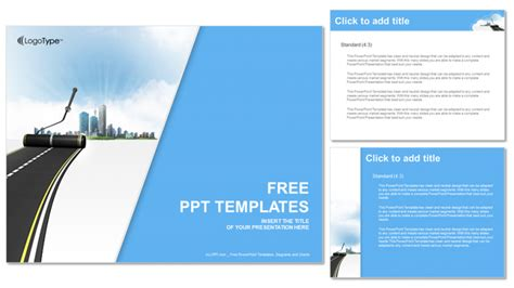 templates powerpoint work road work industry powerpoint templates