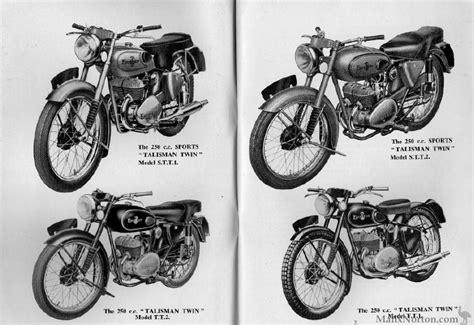 Excelsior Talisman 250cc 1954 Models