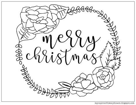 merry coloring pages merry coloring page with wreath avaboard