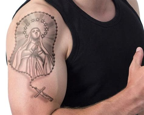blessed mother tattoo designs 52 rosary tattoos for