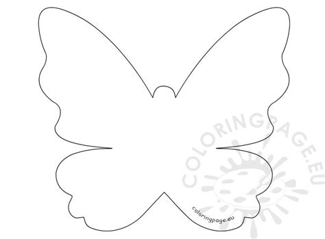template of butterfly to print s day printable butterfly template coloring page