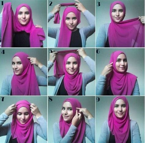 trendy arabic hijab styles  tutorials step  step