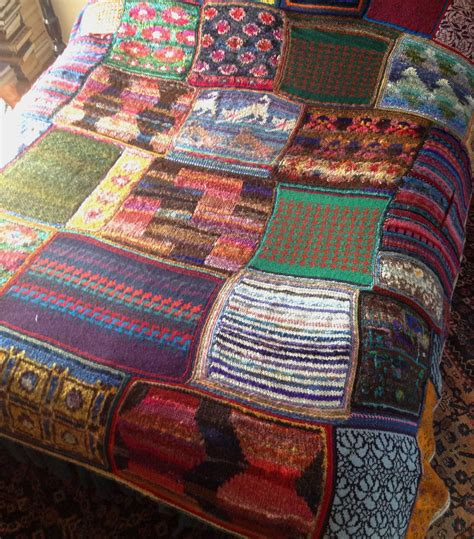 Knitted Patchwork Blanket Pattern - image gallery knitting a patchwork blanket