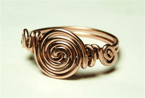 How To Make Handmade Rings With Wire - curls copper wire ring custom size 5 to 12 handmade by keoops8