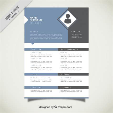 Resume Template Vector by Rhombus Resume Template Vector Free