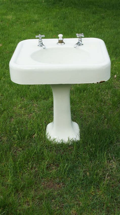 pedestal sink faucets antique cast iron enamel bathroom pedestal sink and